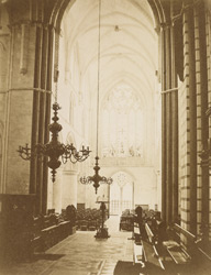 Interior Of The Church Of St. Cross Looking West
